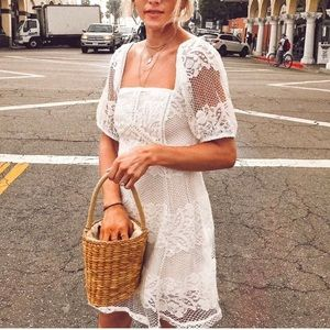Free People Lace A-Line Dress